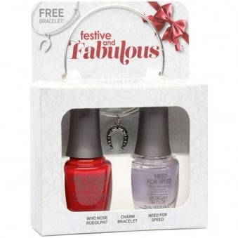 Festive And Fabulous - (With A Free Gift) A Duo Nail Polish Pack (2 x 15ml)