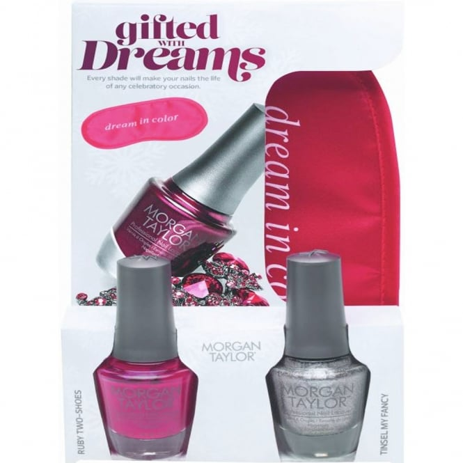 Morgan Taylor Gifted With Dreams (With A Free Gift) - A Duo Nail Polish Pack (2 x 15ml) (51274)