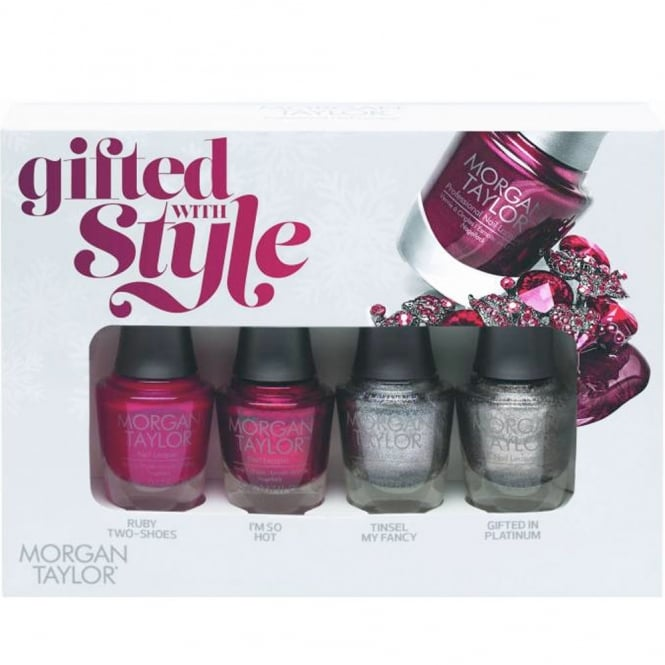 Morgan Taylor Gifted With Style - A Mini Nail Polish Pack (4 x 5ml) (51269)