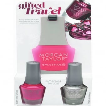 Gifted With Travel (With A Free Gift) - A Duo Nail Polish Pack (2 x 15ml)