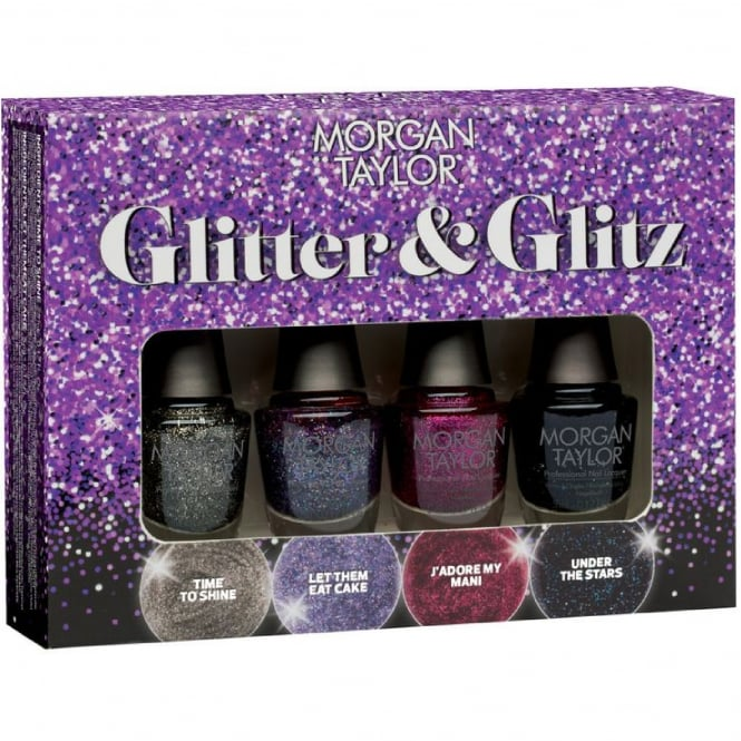 Morgan Taylor Glitter & Glitz Nail Polish Collection - Mini Pack (4 x 5ml)