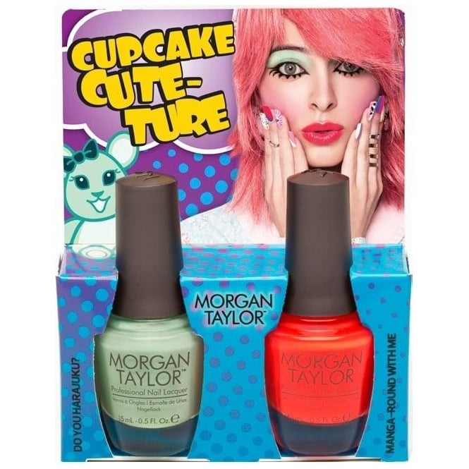 Morgan Taylor Hello Pretty Nail Polish Collection 2015 - Cupcake Couture Duo (x2 15ml) (51255)