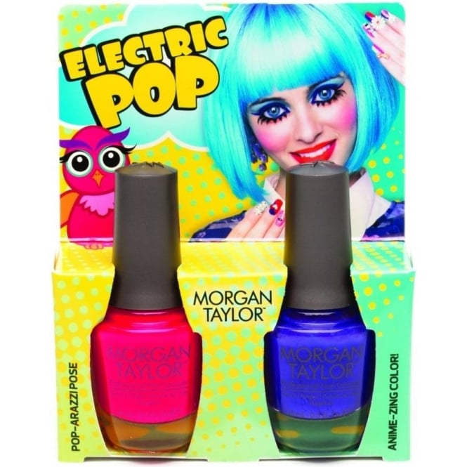 Morgan Taylor Hello Pretty Nail Polish Collection 2015 - Electric Pop Duo (x2 15ml)