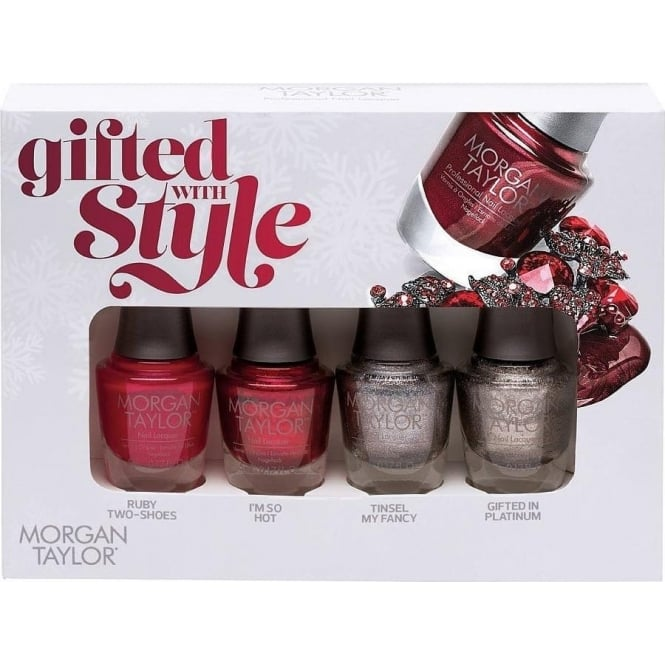 Morgan Taylor Holiday 2015 Mini Nail Polish Collection - Gifted With Style 4x5ml