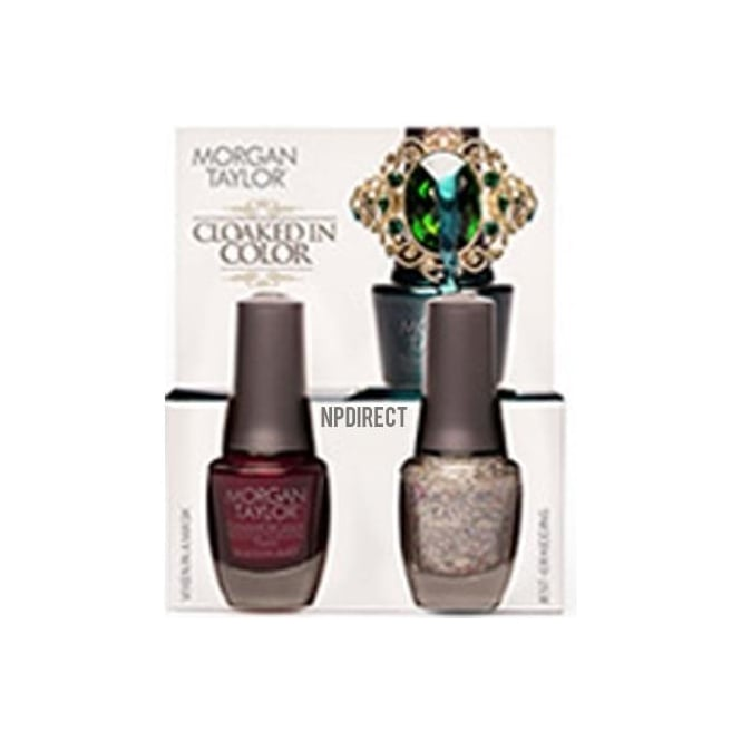 Morgan Taylor Midnight Masquerade Nail Polish Collection 2014 - Cloaked In Colour (x2 15ml)