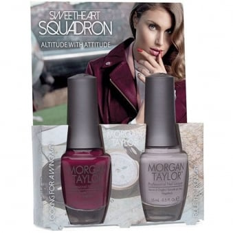 Sweetheart Squadron Collection - Altitude With Attitude - A Duo Nail Polish Pack (2 x 15ml)