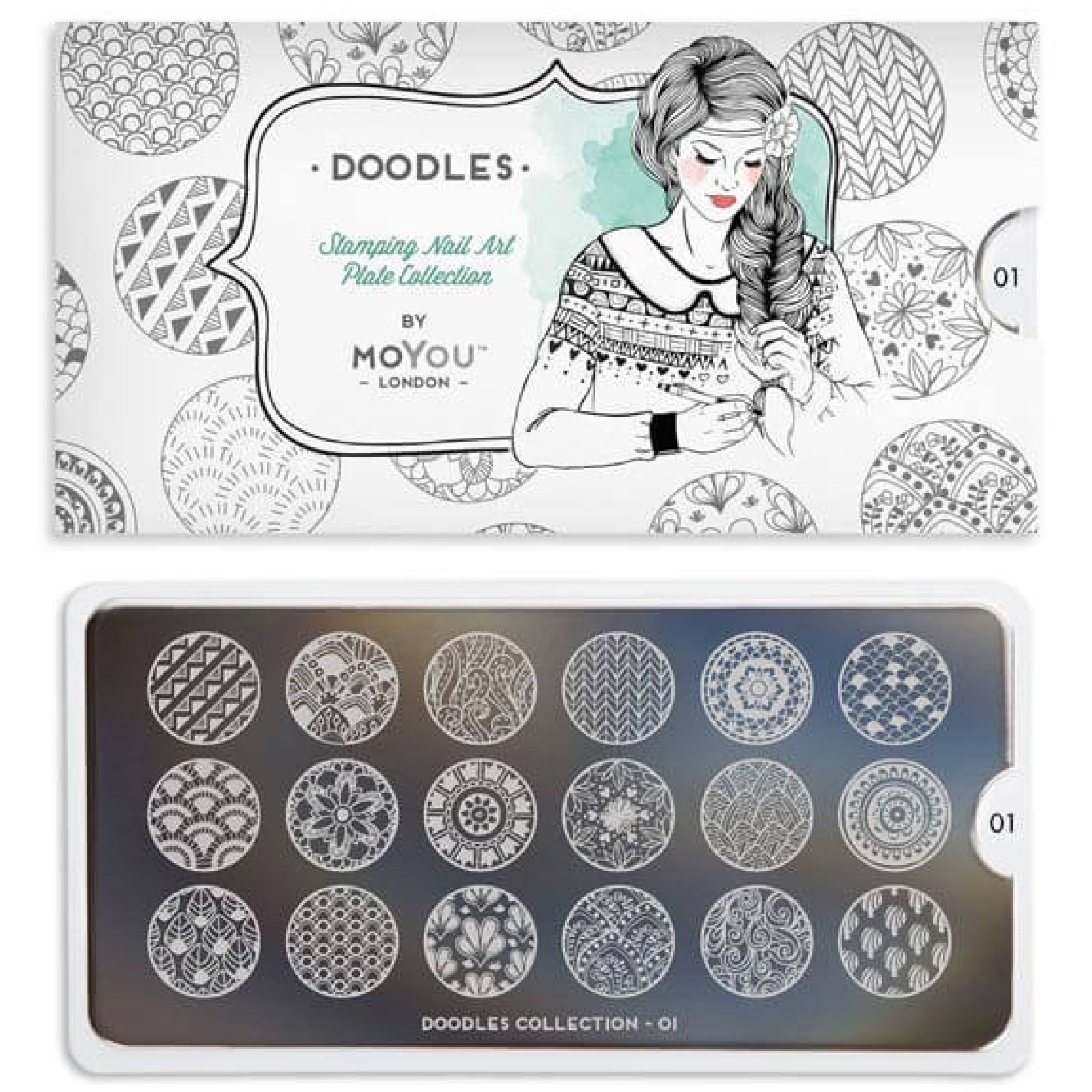 Moyou London Nail Art Image Plate Doodles 01