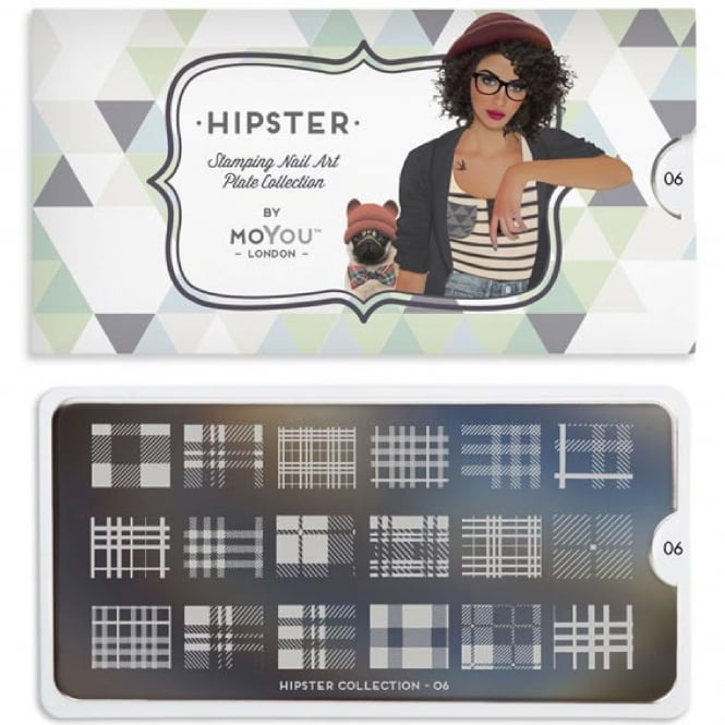MoYou London Nail Art Image Plate - Hipster 06 (MPHIP06)