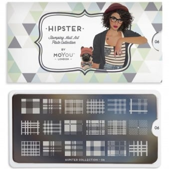 Nail Art Image Plate - Hipster 06