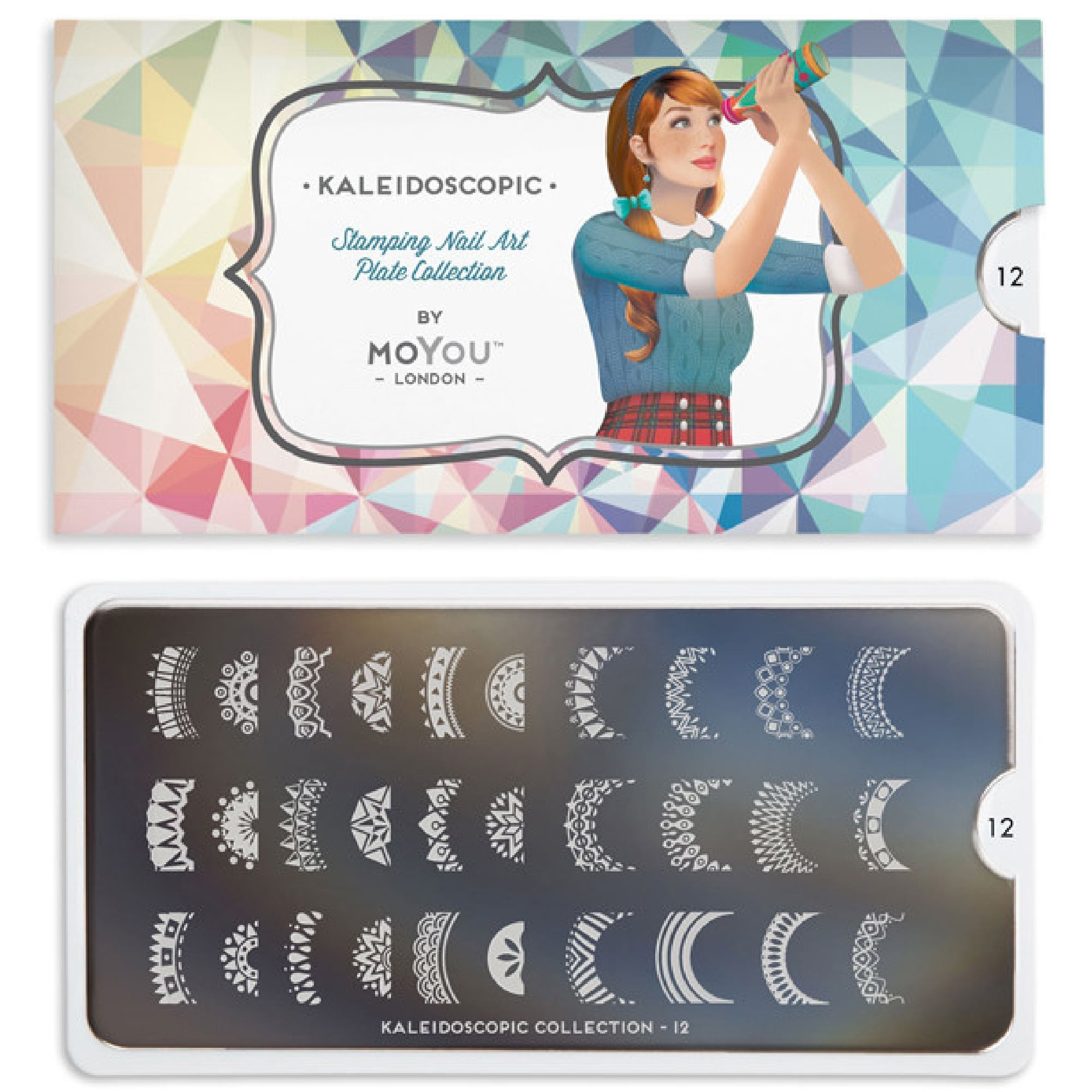 MoYou London Nail Art Image Plate - Kaleidoscope 12