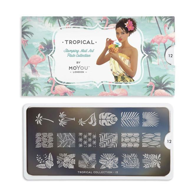 MoYou London Nail Art Image Plate - Tropical 12 (MCTRO)
