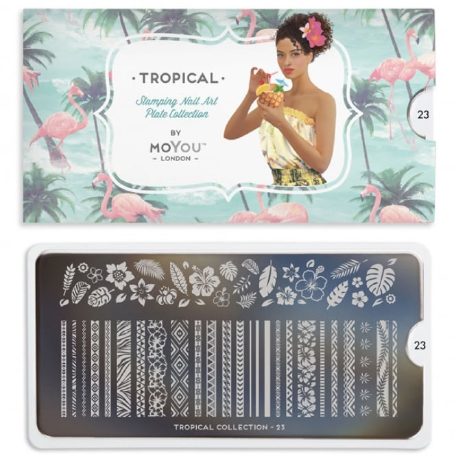 MoYou London Nail Art Image Plate - Tropical 23 (MPTRO23)