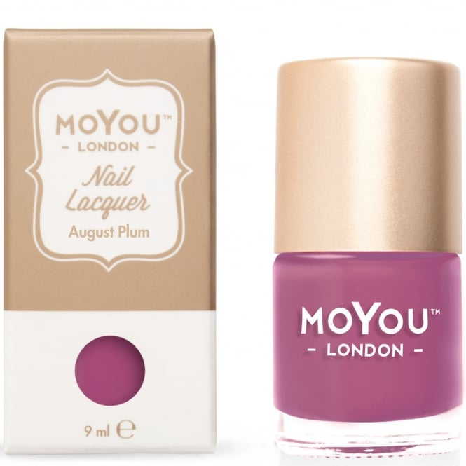 MoYou London Stamping Nail Lacquer - August Plum 9ml (MN067)