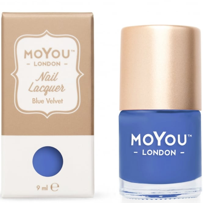 MoYou London Stamping Nail Lacquer - Blue Velvet 9ml (MN060)