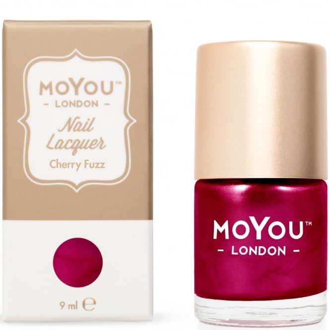 MoYou London Stamping Nail Lacquer - Cherry Fuzz 9ml (MN048)