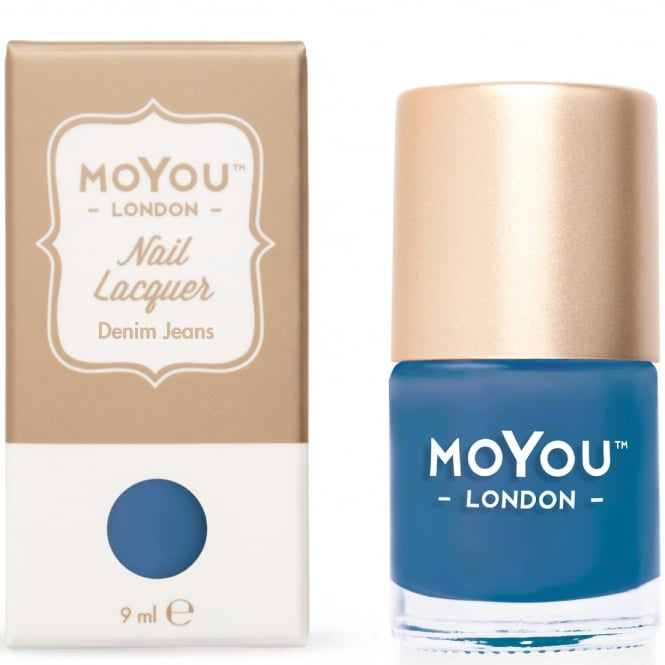 MoYou London Stamping Nail Lacquer - Denim Jeans 9ml (MN034)
