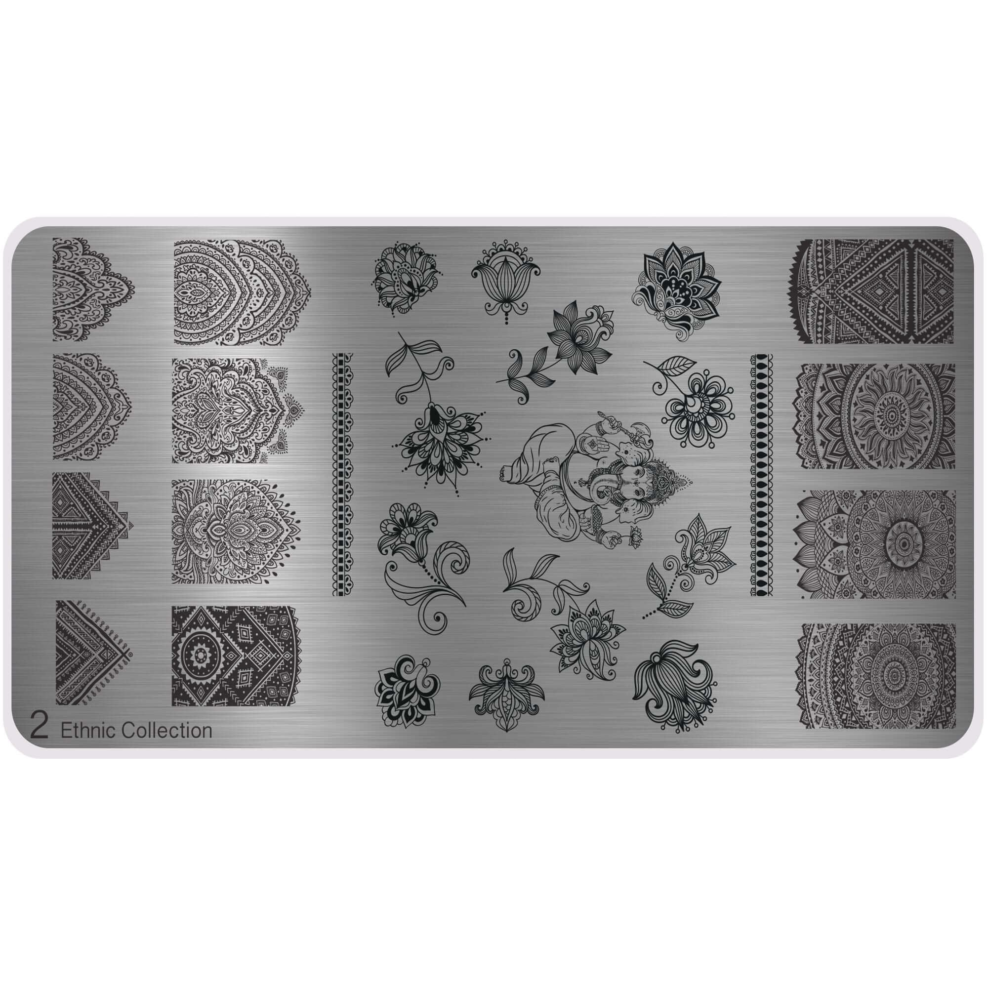 MoYou Nail Art Image Plate - XL Ethnic Style (2)
