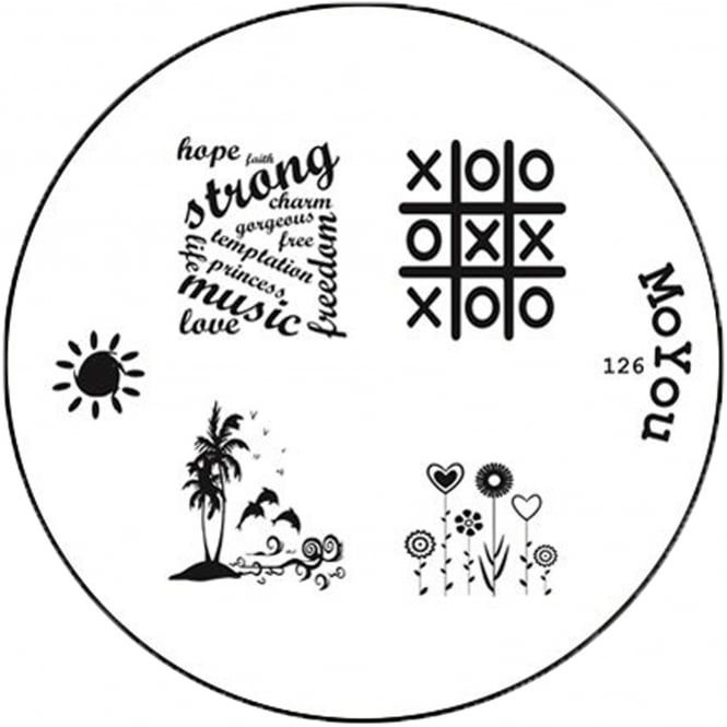MoYou Round Stamping Nail Art Image Plate - 126