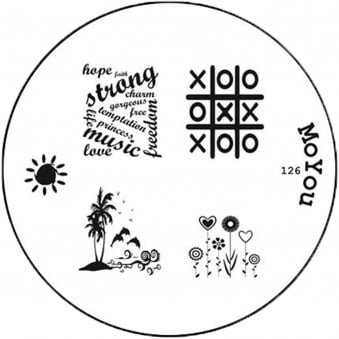 Round Stamping Nail Art Image Plate - 126
