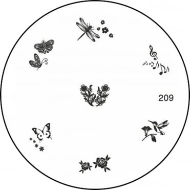 Round Stamping Nail Art Image Plate - Fair Garden - 209