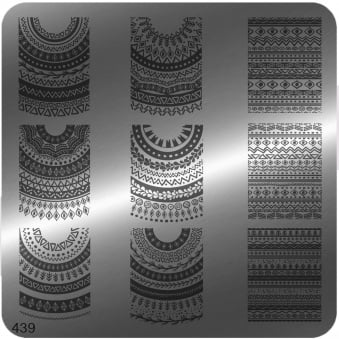 Square Stamping Nail Art Image Plate - 439