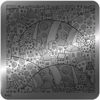 Square Stamping Nail Art Image Plate - 445