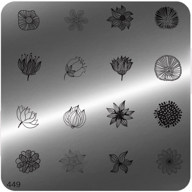 MoYou Square Stamping Nail Art Image Plate - 449