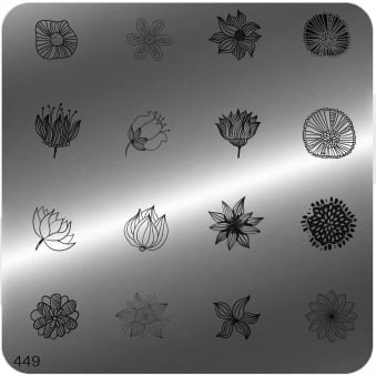 Square Stamping Nail Art Image Plate - 449