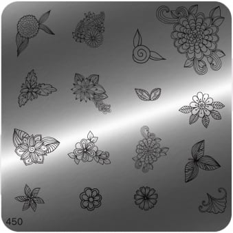 Square Stamping Nail Art Image Plate - 450