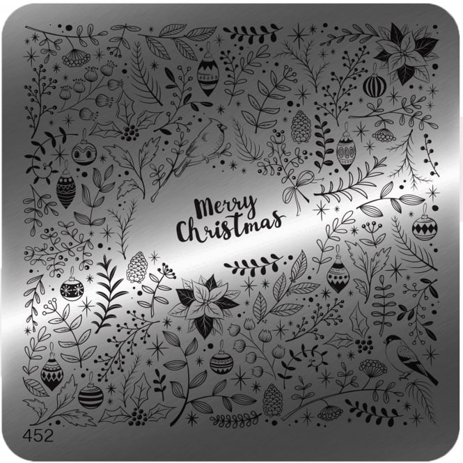 MoYou Square Stamping Nail Art Image Plate - 452