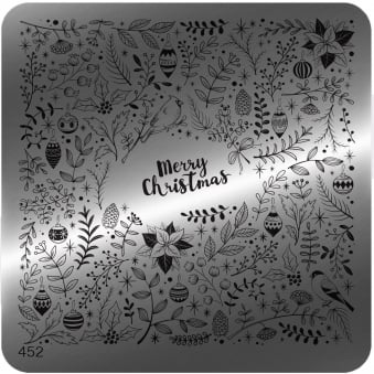 Square Stamping Nail Art Image Plate - 452