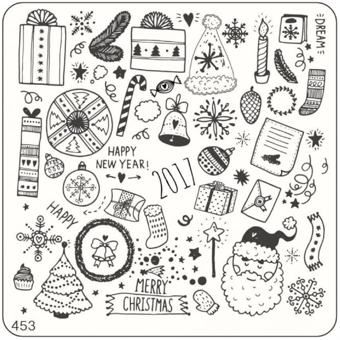 MoYou Square Stamping Nail Art Image Plate - 453