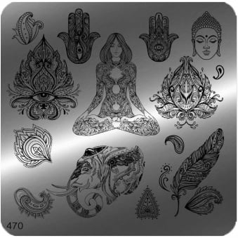 Square Stamping Nail Art Image Plate - 470