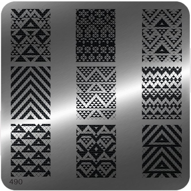 MoYou Square Stamping Nail Art Image Plate - 490