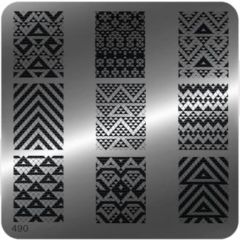 Square Stamping Nail Art Image Plate - 490