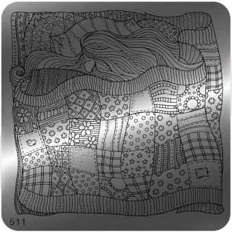 Square Stamping Nail Art Image Plate - 511
