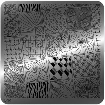 Square Stamping Nail Art Image Plate - 514