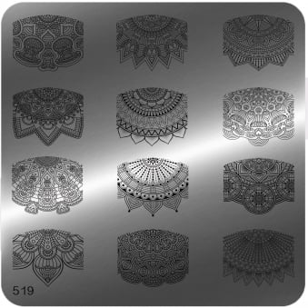 Square Stamping Nail Art Image Plate - 519