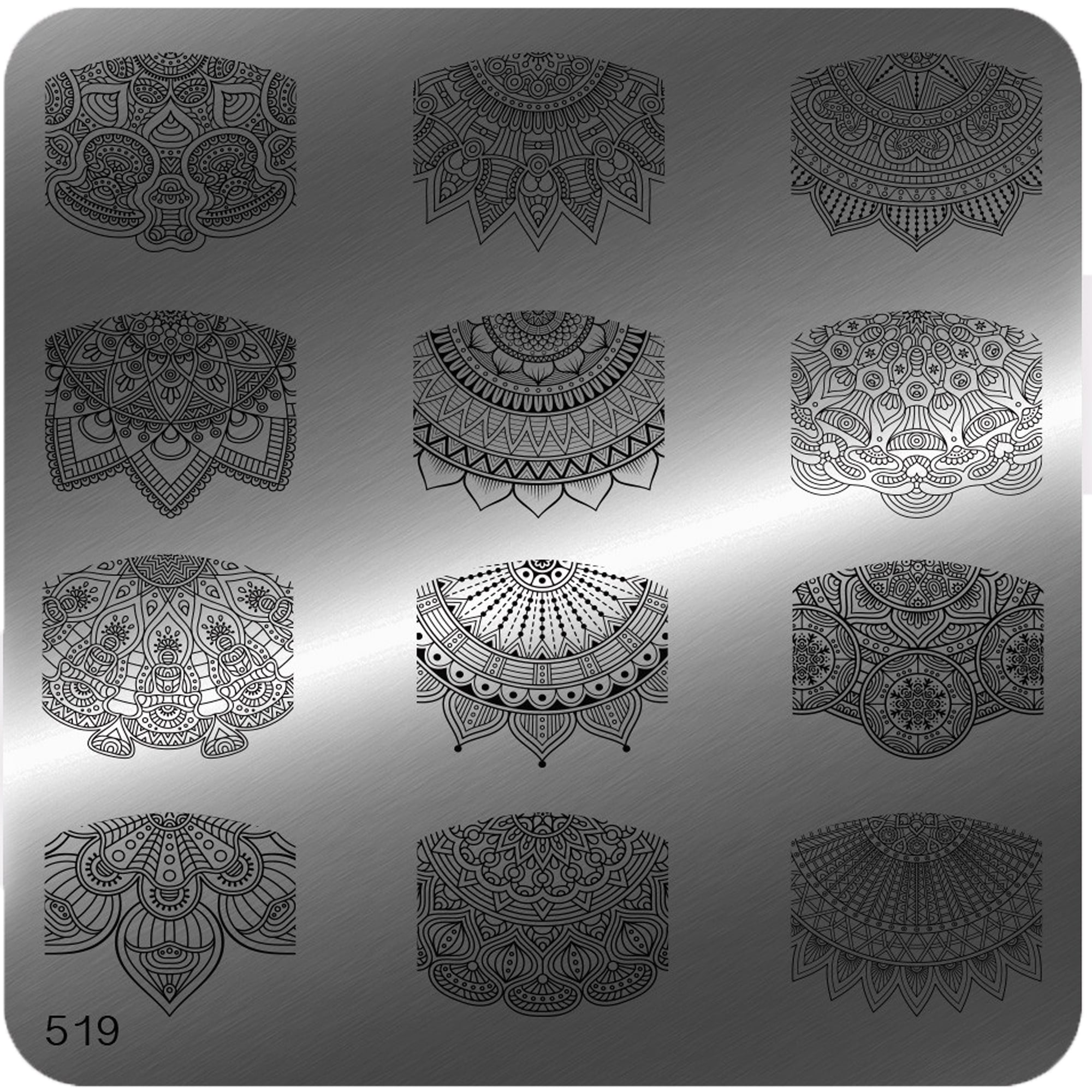 MoYou Square Stamping Nail Art Image Plate - 519