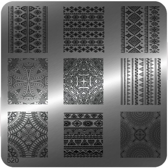 MoYou Square Stamping Nail Art Image Plate - 520