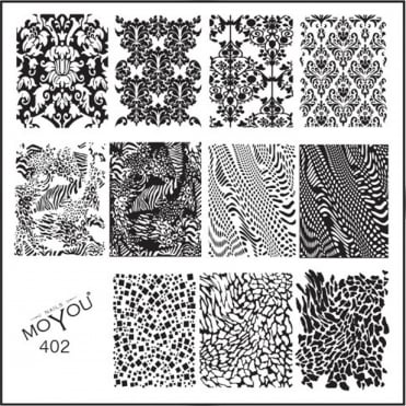 Square Stamping Nail Art Image Plate - Filigree Art - 402