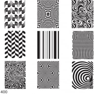 Square Stamping Nail Art Image Plate - Optical illusion - 400