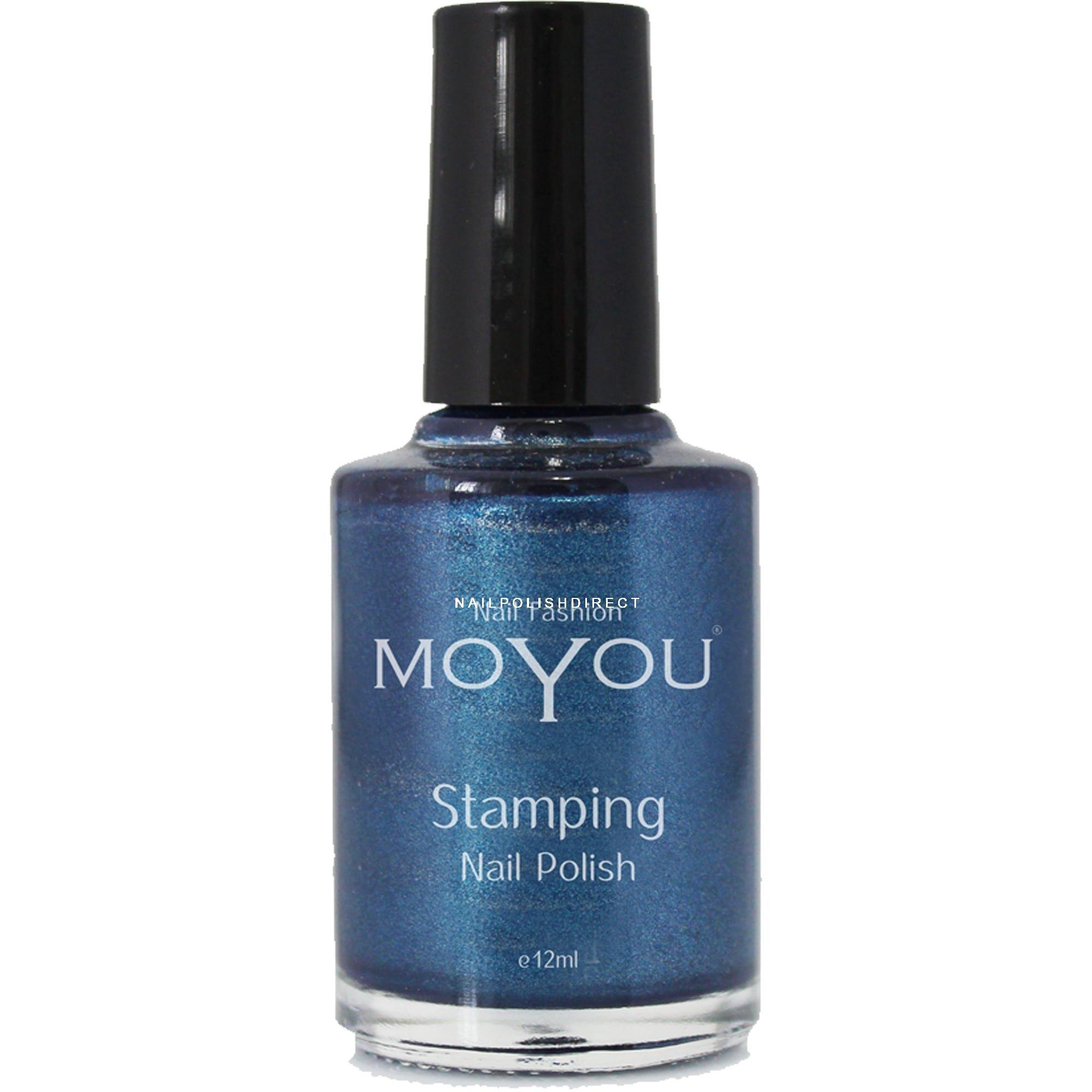 Blue Nail Varnish Uk: MoYou Stamping Nail Art