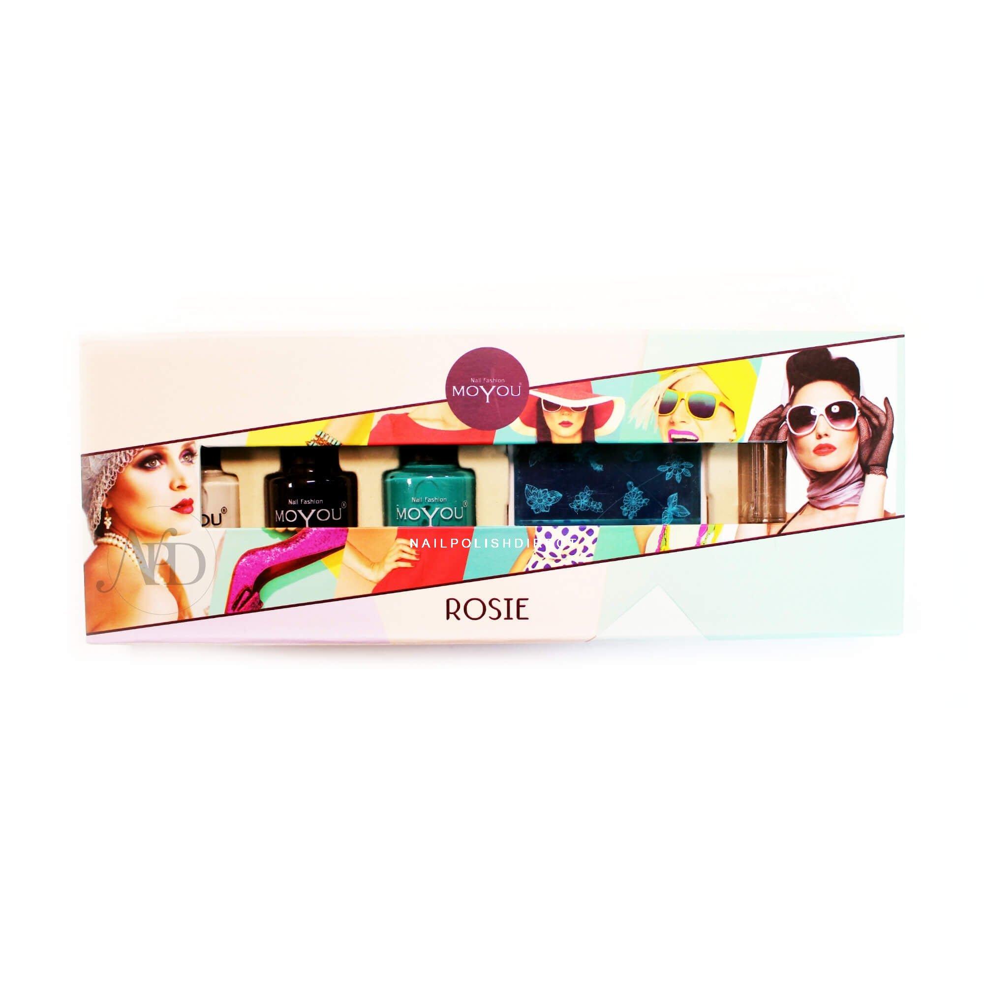 Moyou Stamping Nail Art Nail Art Gift Set Rosie 9 X Piece Set