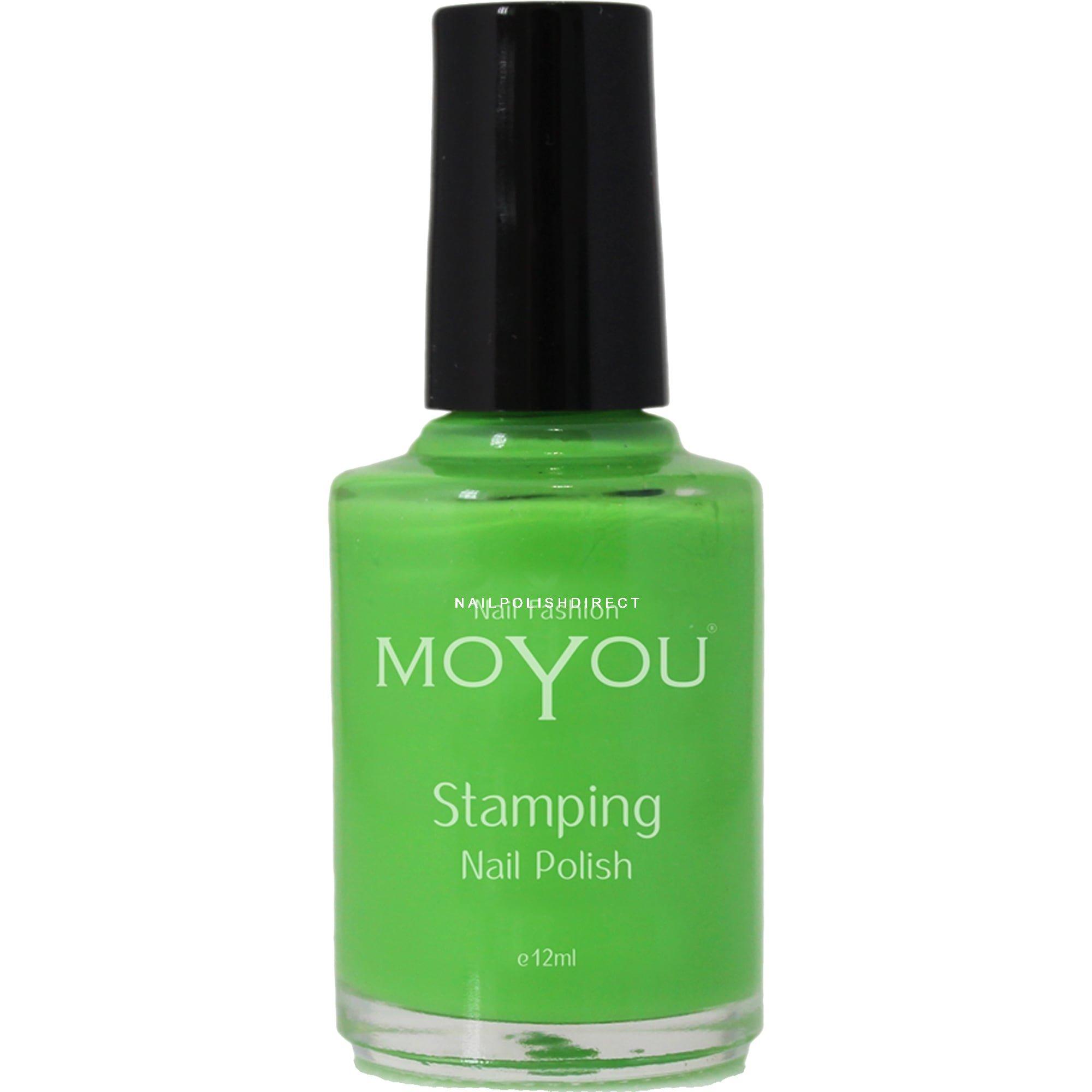 Moyou Stamping Nail Art Special Nail Polish Atlantic Green 12ml