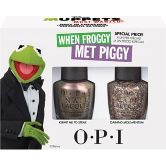 Muppets Nail Polish Collection 2014 - Kermit Duo Pack - When Froggy Met Piggy (x2 Set)