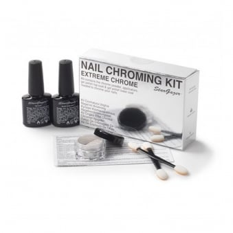 Nail Chroming Kit - Silver (4 Piece Set)