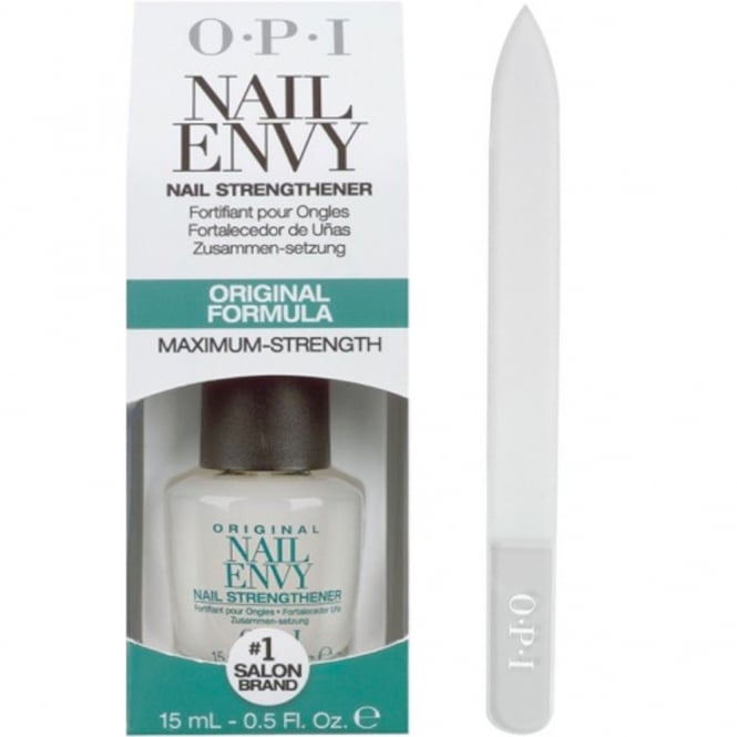OPI Nail Envy Nail Strengthener Original Formula 15ml + OPI Crystal Nail File