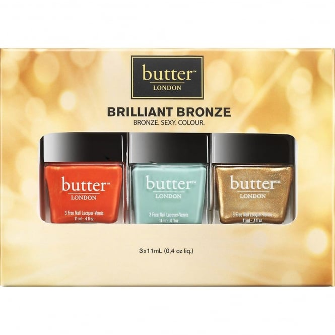 Butter London Nail Polish Collection - Brilliant Bronzed Lacquer Set (8885) (3x 11ml)
