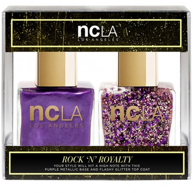 ncLA Los Angeles Nail Polish Collection Fashion Nail Lacquer Duo - Rock N Royalty (x2 15ml)